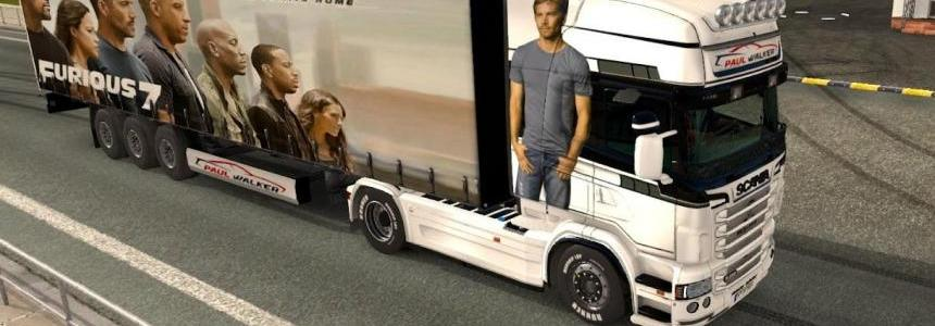 Paul Walker pack for Scania RJL