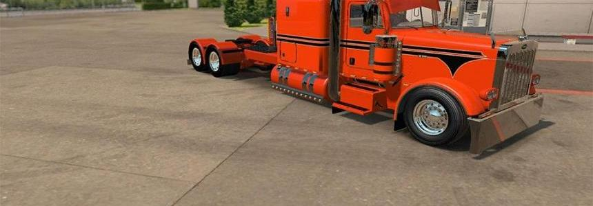 Peterbilt 389 Custom Orange Skin