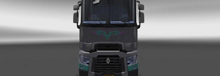 Renault T Game Girl Sketch Wide Skin