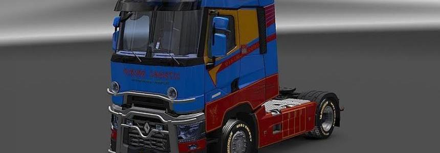 Renault T Viking Logistic Skin v2