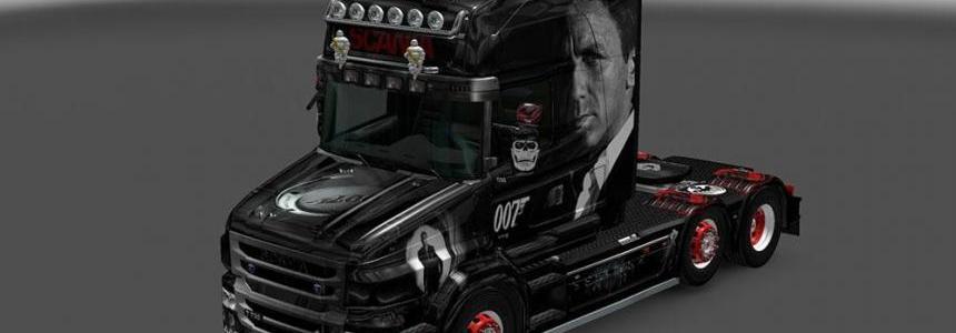 Scania R, Streamline & T Topline (RJL) Bond 007 V8 Skin