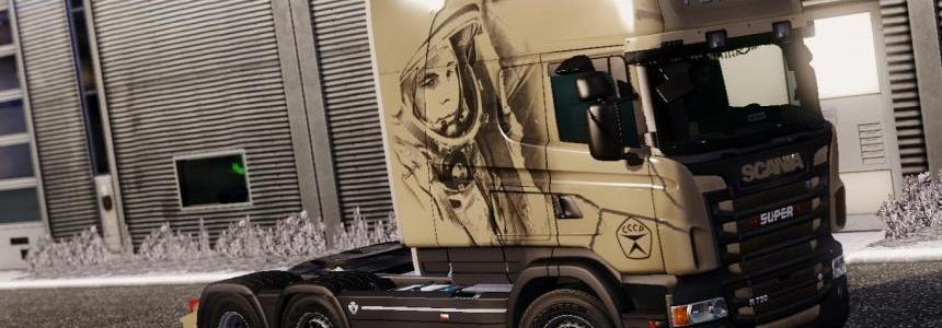 Scania RJL Gagarin Skin 1.21.1