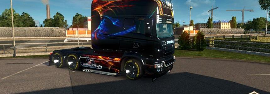 Scania RJL Longline Chelsea FC Skin