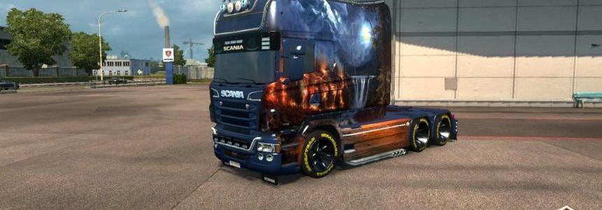 Scania RJL Longline Fantastic Landscape Skin v2