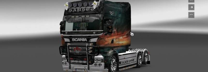 Scania RJL RS Sanset Skin v2.0