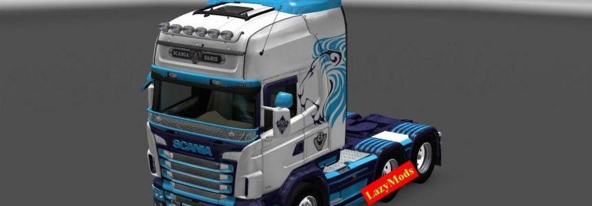 Scania RJL V8 Barclays Skin [LazyMods]