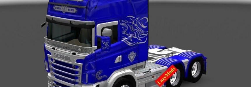 Scania RJL V8 Shark Mask Paintjob [LazyMods]