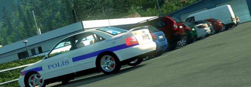 Turkish Police car skin for Audi A4 v1.1