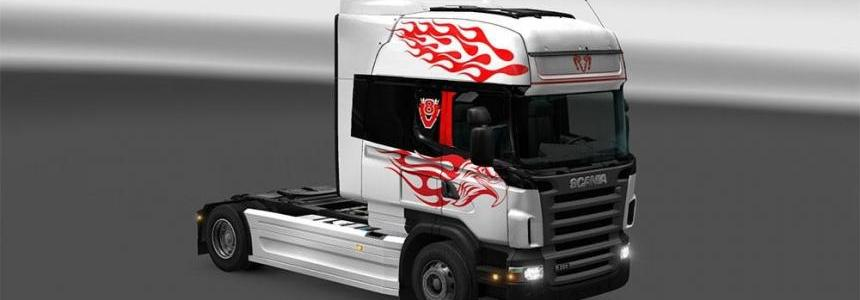 Vinyls Flames for Scania RJL