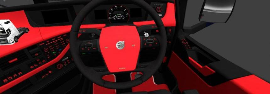 Volvo fh 16 red and black interior 1.22.x