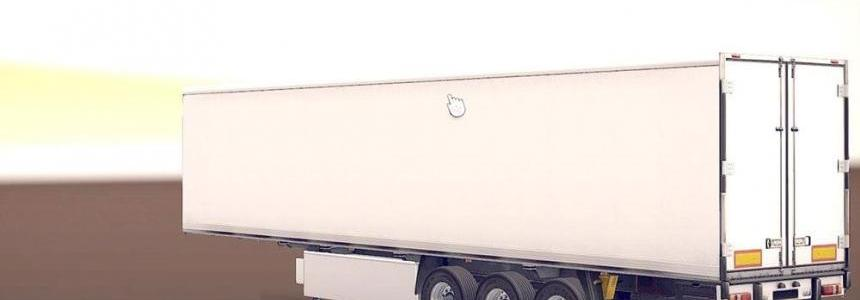 White Coollinear Trailer with new Russian Cargos