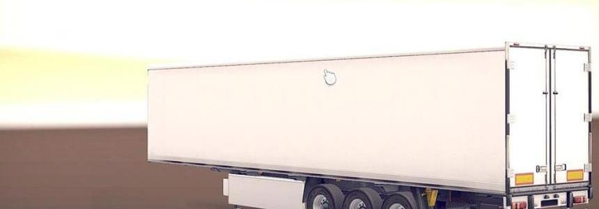 White Coolliner Trailer with new Russian Cargos v1.1