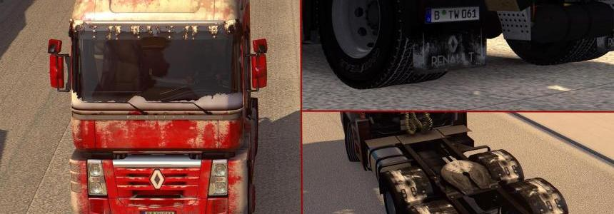 Snowy/Dirty Skin for Renault Magnum v1