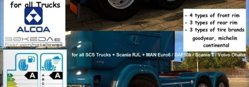 50k Alcoa Wheels Pack for ETS2 1.22.xx v3