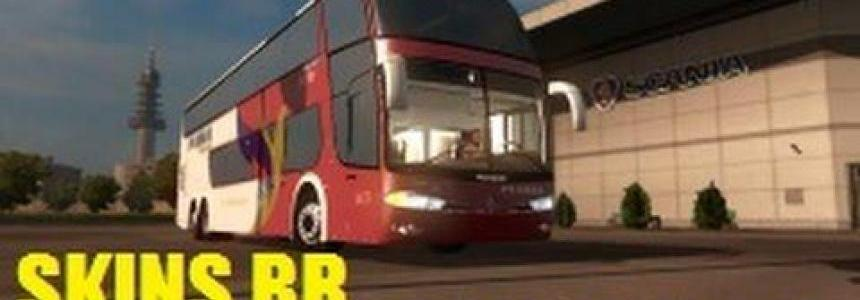 Brazilian skins pack for bus Marcopolo 1800DD G6