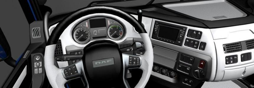Daf euro6 black and white interior 1.22