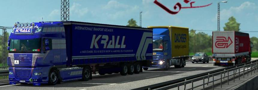 DAF XF 50k – Krall internationale transport skin