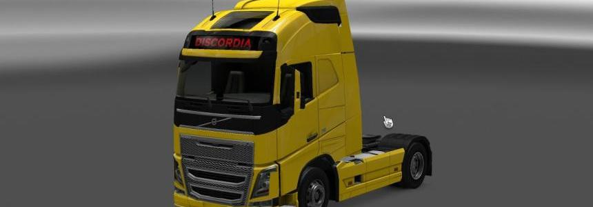 Discordia combo skin pack Volvo Euro 6 and trailer 1.22