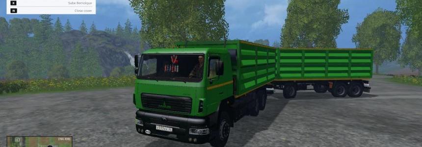 MAZ Truck +  Trailer v1.0