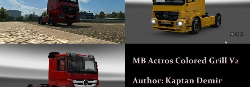 MB Actros 2009 Colored grill v2.0