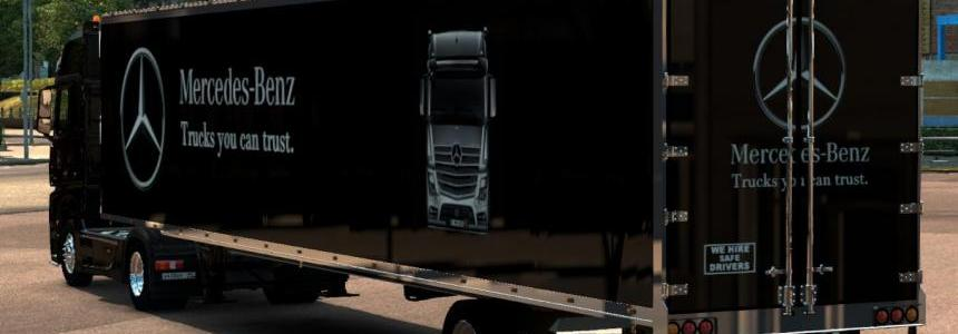 MB Actros MP4 & Am Trailer Combo Skin 1.22