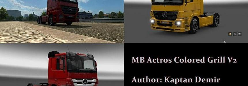 Mercedes Actros 2009 Colored Grill v2.0
