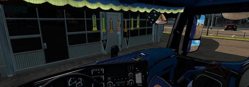 Mercedes Benz Actros MP4 Blue & Black Interior