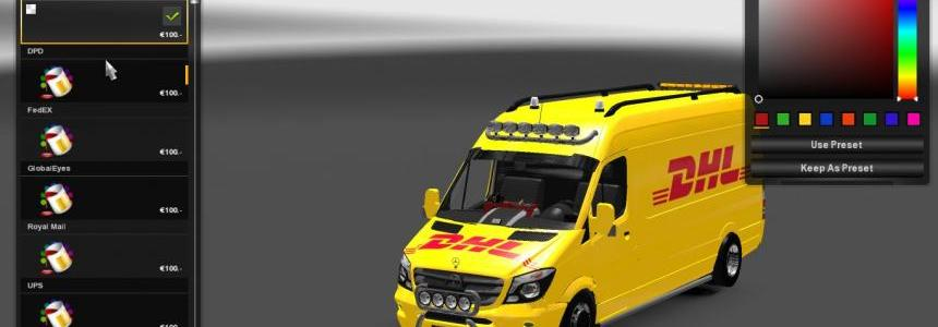 Mercedes Sprinter Long 2015 SkinPack