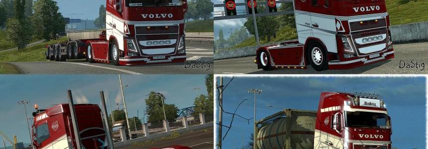 Red&White skin for Volvo FH16 2013 (Ohaha) 1.22