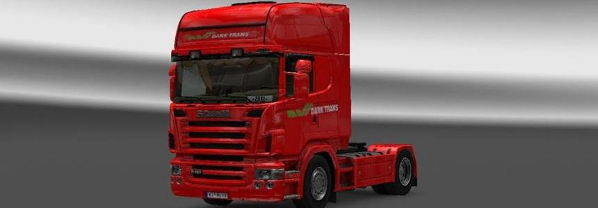 Scania R2008 50k Dark Trans Red Skin