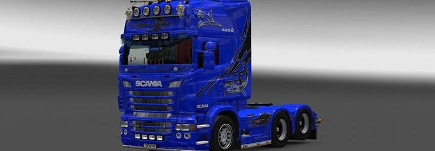 Scania RJL Blue Shark Skin