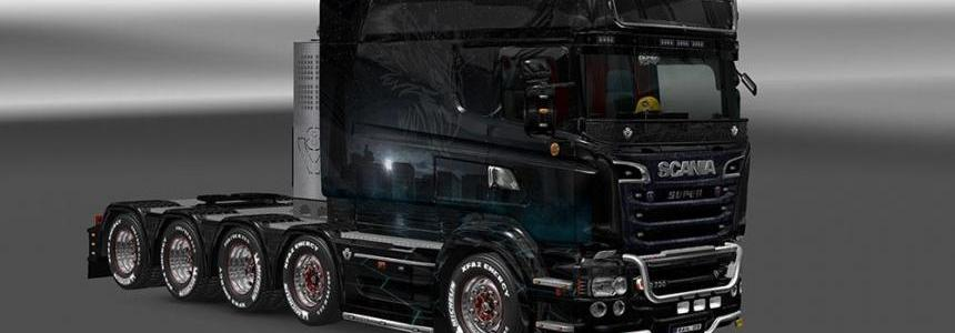 Scania RJL R Sci-Fi City Themed Skin