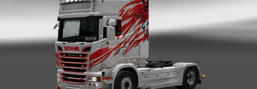 Scania RJL Red'n' White Skin