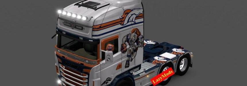 Scania RJL V8 Denver Broncos [NFL] [LazyMods]