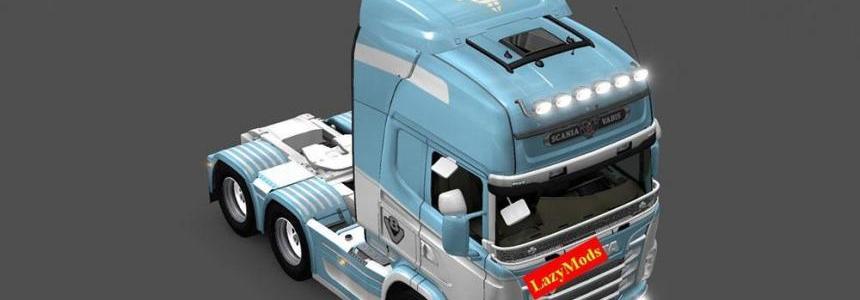 Scania RJL V8 Olympique de Marseille [LazyMods] Skin