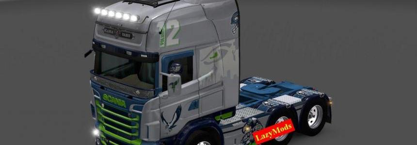 Scania RJL V8 Seattle Seahawks, Minnesota Vikings [NFL] [LazyMods]