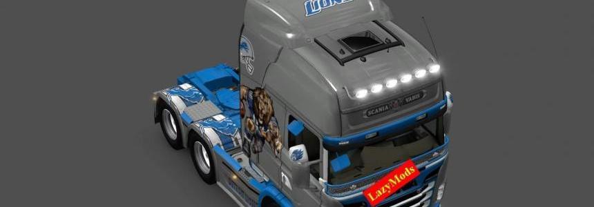 Scania RJL V8 Skins Pack [NFL] [LazyMods]