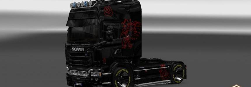 Scania Streamline Black/Red Skin 1.22