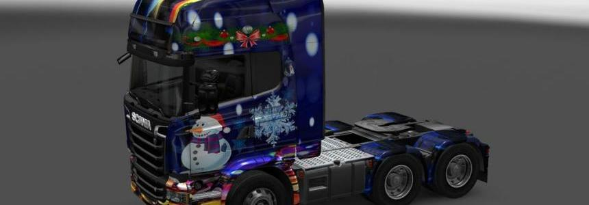 Scania Streamline New Year 2016 Skin 1.22