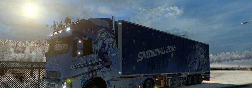 Snow Miku 2016 Combo Skin for Volvo FH