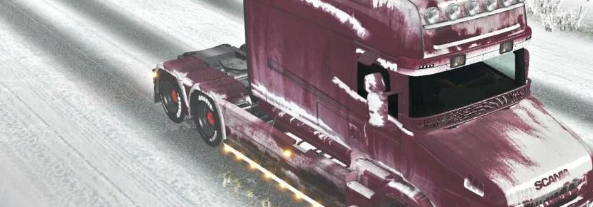 Snowy paint job for Scania T 1.22.x