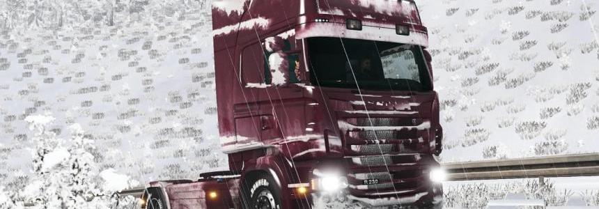 Snowy skin for Scania RJL