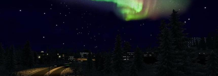 The night sky for winter mods 1.22.x