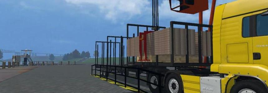 Unloading crane for wooden pallets v1.0