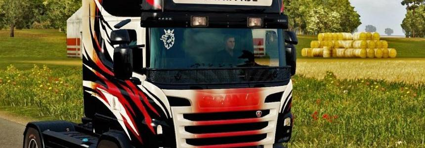 Vinyls paint job for Scania RJL