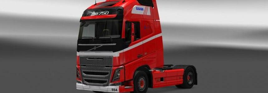 Volvo FH 2013 H.P.Therkelsen Skin 1.22