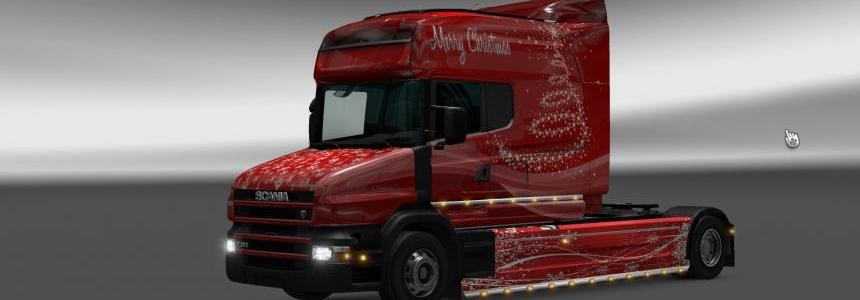 Xmas paint job for Scania T 1.22.x