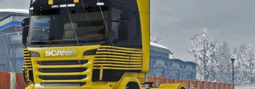 Yellow Lines Scania R v1.0
