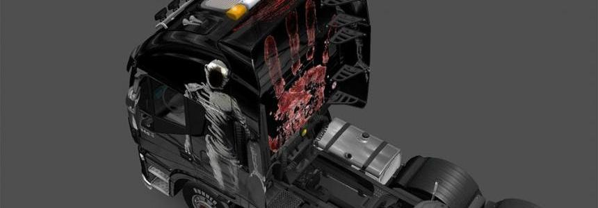 Blood Skin For Iveco Hi-Way Vampir