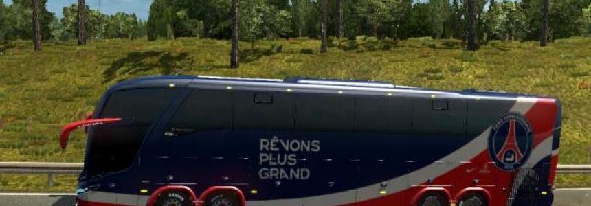 Bus Macropolo G7 1600LD Paris Saint Germain Skin